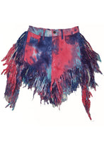 Load image into Gallery viewer, FRINGE TIE DYE SHORT PANTS