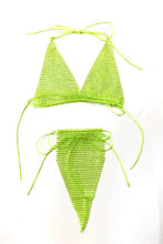 Load image into Gallery viewer, FISH NET RHINESTONE  BIKINI SET