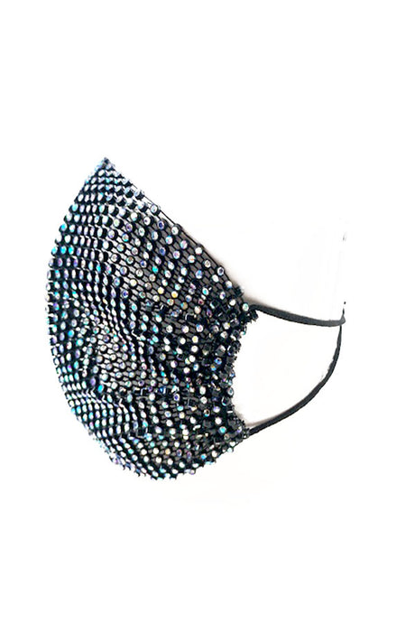 FISH NET RHINESTONE FASHION MASK