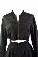 Load image into Gallery viewer, SOLID ZIP UP JACKET AND FLARE SKIRT SET