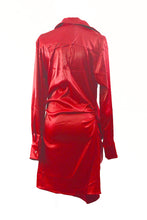 Load image into Gallery viewer, SATIN SHIRTS DRESS
