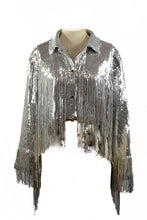 Load image into Gallery viewer, SEQUINS FRINGE JACKET