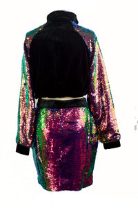 GLITTER SKIRT AND JACKET SET