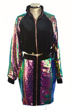 Load image into Gallery viewer, GLITTER SKIRT AND JACKET SET