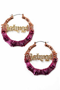 MULTI COLOR BABY GIRL BAMBOO EARRING