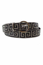 Load image into Gallery viewer, GREEKY PATTERN PAVE CRYSTAL BUCKLE BELT