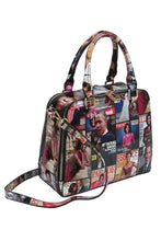 Load image into Gallery viewer, MAGAZINE PRINT DOUBLE SIDE POCKET HANDBAG