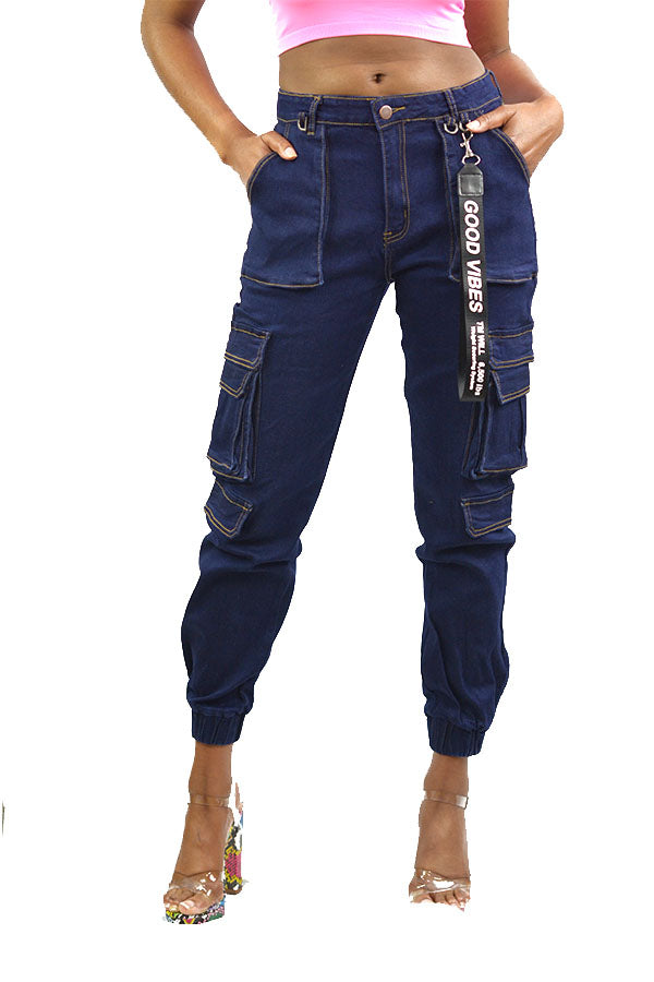 MULTI POCKET DENIM PANTS