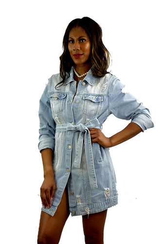 DENIM LONG JACKET