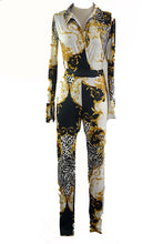 Load image into Gallery viewer, ANIMAL PRINT MIX BODYSUIT WITH PANTS SET