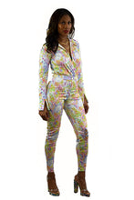 Load image into Gallery viewer, SNAKE SKIN PRINT BODYSUIT WITH PANTS SET
