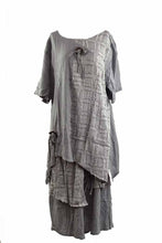 Load image into Gallery viewer, LINEN SHORT SLEEVE TOP AND LONG SKIRT SET