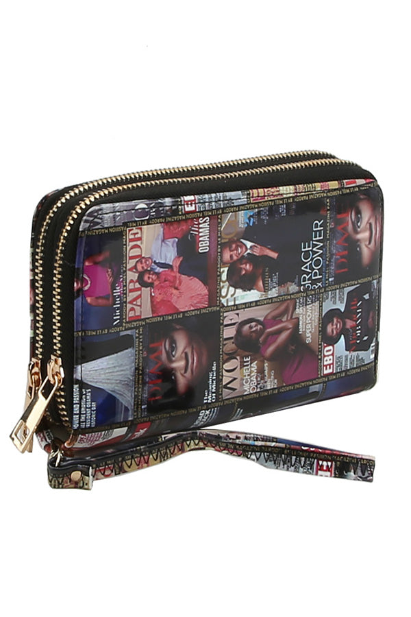 MAGAZINE PRINTED DOUBLE POCKET WALLET