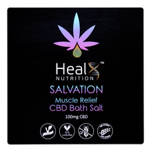 Load image into Gallery viewer, Topical Salvation CBD Bath Salt 100mg Muscle Relief