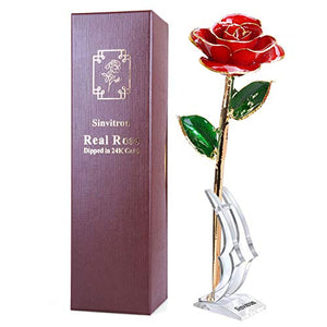 Gold Rose Flower 24k Gold Plated - 33% Off Today