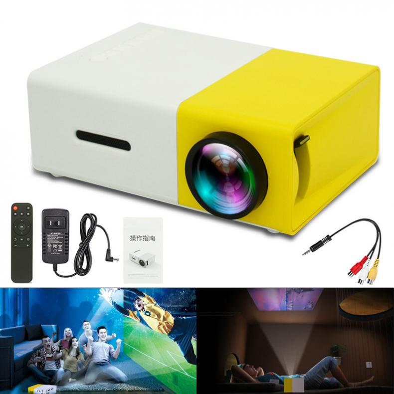 YG300 Pocket Projector Portable Mini LED HD 60 Inch