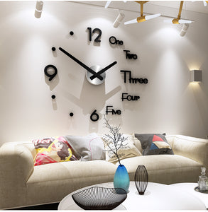 Large Acrylic Quartz Wall Clock