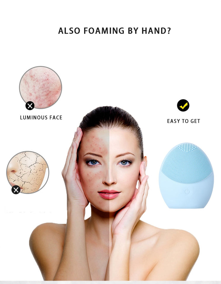 Facial Cleansing Mini Massager Brush