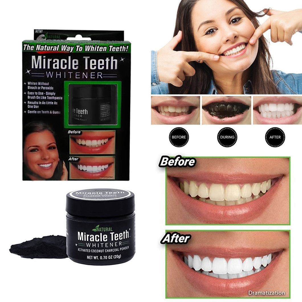 Miracle Teeth Whitening Powder Charcoal Neusouq