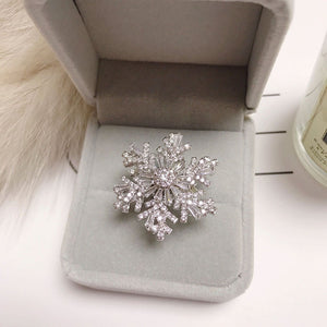 Snowflake Shiny Rotating Ring