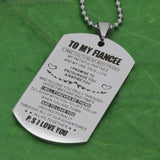To My Fiancee Pendant Stainless Steel Jewelry
