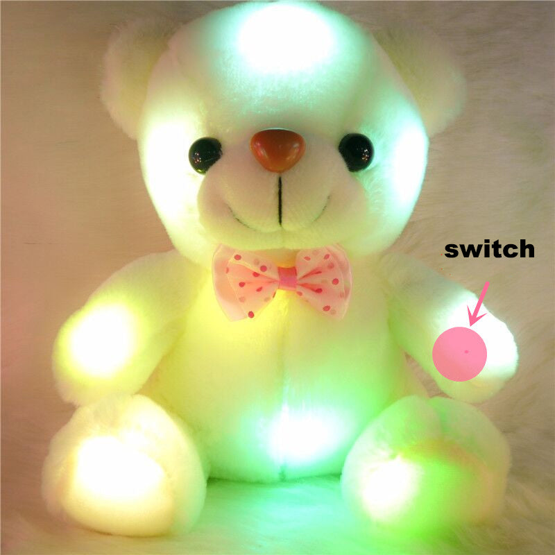 LED Teddy Bear Colorful Plush Gift
