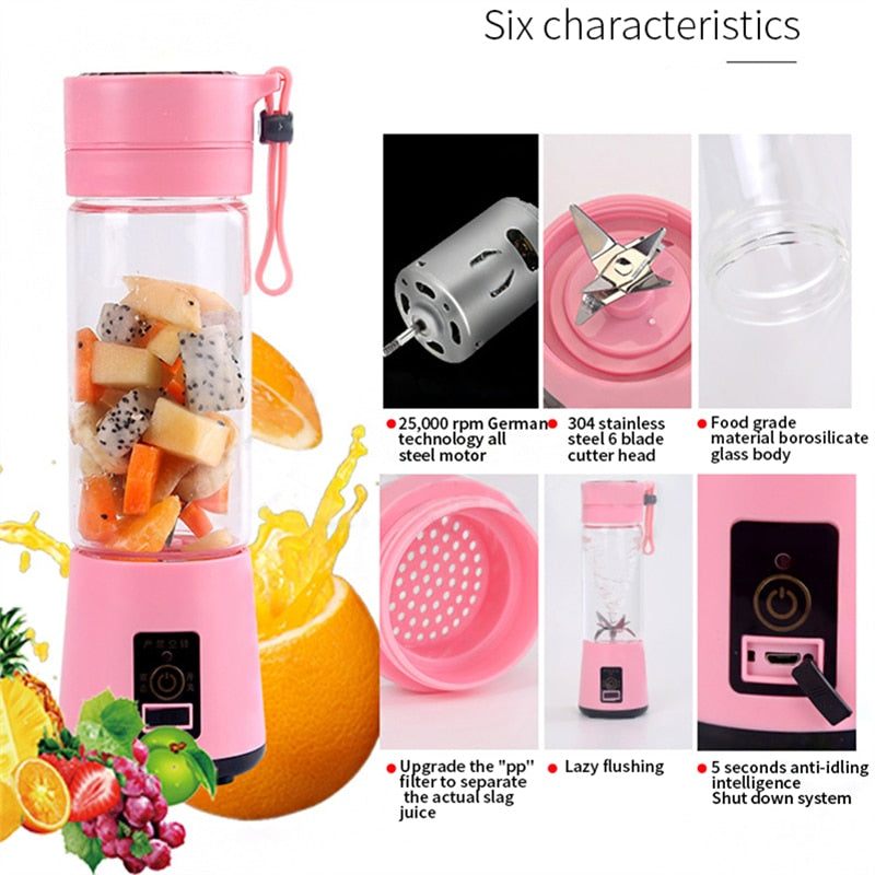 Portable Blender Juice for Smoothie & Shakes USB Charging