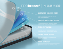 Load image into Gallery viewer, TEMPUR-PRObreeze° Medium Hybrid by Tempurpedic™