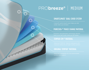 TEMPUR-PRObreeze° Medium by Tempurpedic™