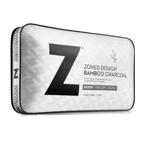 Malouf DOUGH® + Z™ Bamboo Charcoal Memory Foam Pillow
