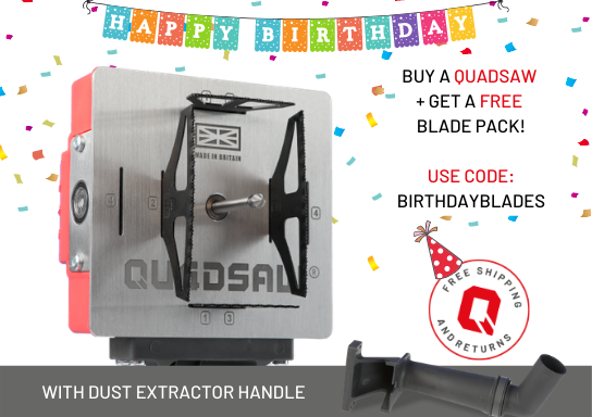 QUADSAW® + Dust Extractor Connector Handle
