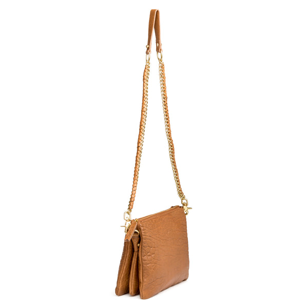 Everywhere - designer leather bag in tan bubble