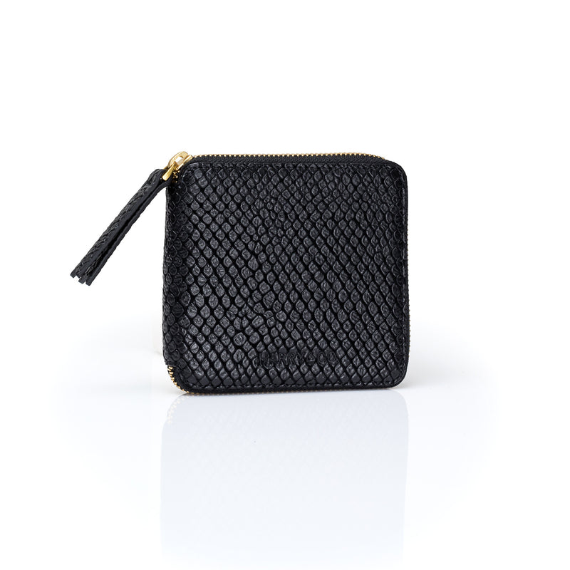 Mini Zip It Up Wallet - Black Pebble