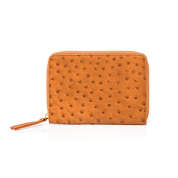 Travel Holder - Tan Ostrich