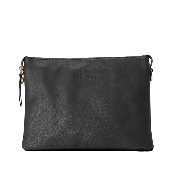 Everywhere - designer leather bag in black