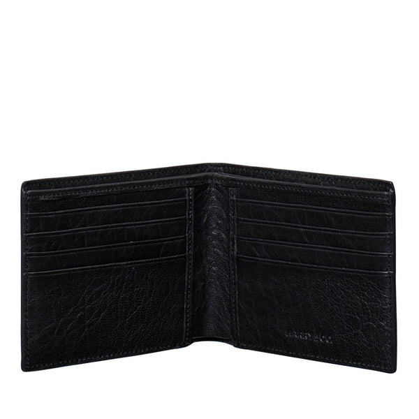 harry & co mens flip wallet black