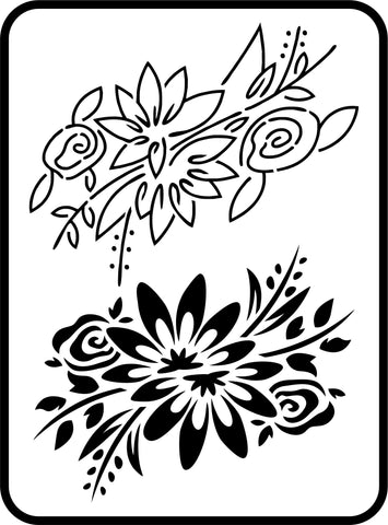 Two Small Flowers Set | JRV Stencils