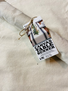 Canvas table runner