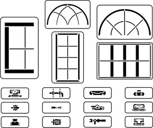 Window Maker Set | JRV Stencils