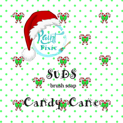 Candy Cane brush soap- Paint Pixie