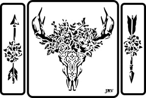 Skull and Arrows | JRV Stencils