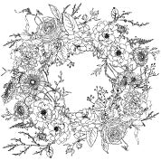 Winter's Song Wreath Paintable Transfer - IOD