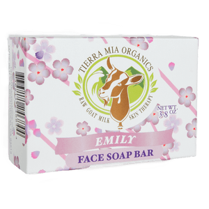 front box of Emily face soap bar.