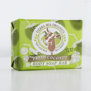 front_face_of_Fresh_coconut_goat_milk_soap_bar_made_by_Tierra_Mia_Organics