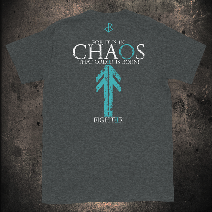CHAOS SHIRT UNISEX ( COLOURS- BLACK - NAVY - HEATHER GREY)