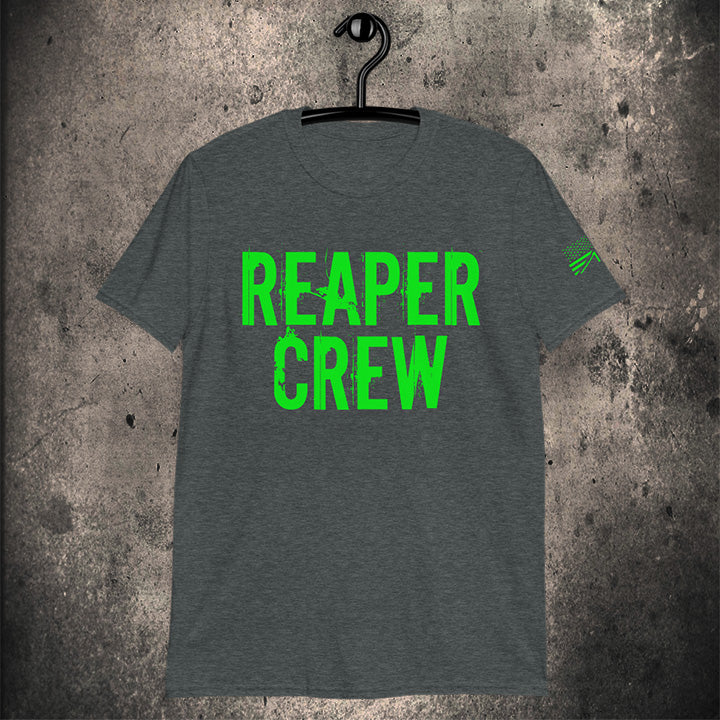 LIMITED EDITION GREEN REAPER CREW / VALHALLA AWAITS / UNISEX SHIRT - BLACK-OMƎN
