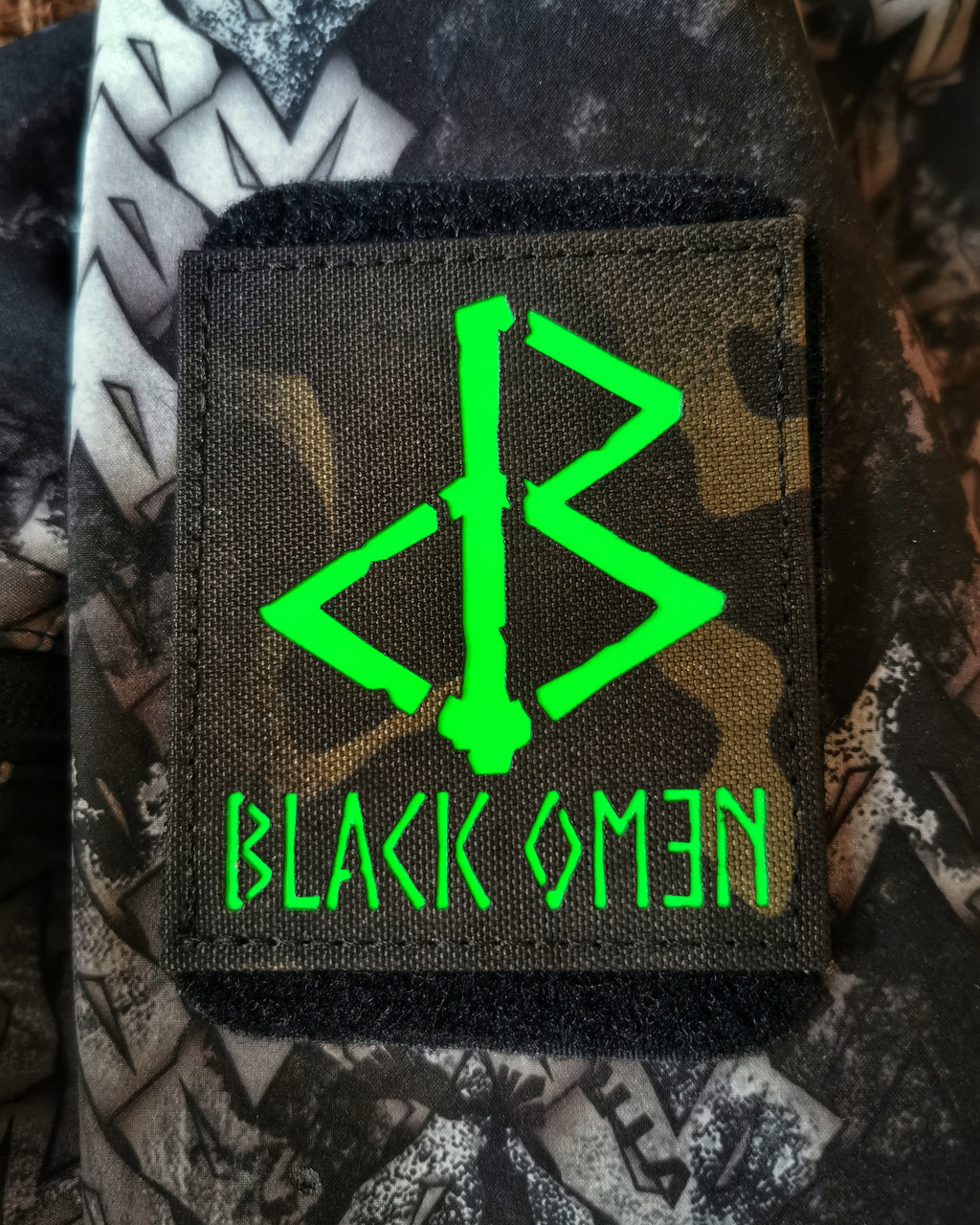 THE DARK OMƎN PATCH (LTD EDITION GREEN) - BLACK-OMƎN