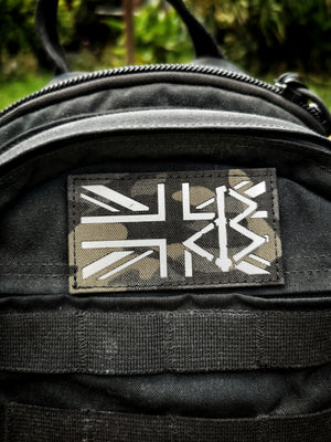 BLACK OMƎN UNION JACK PATCH / MULTICAM BLACK / GREY