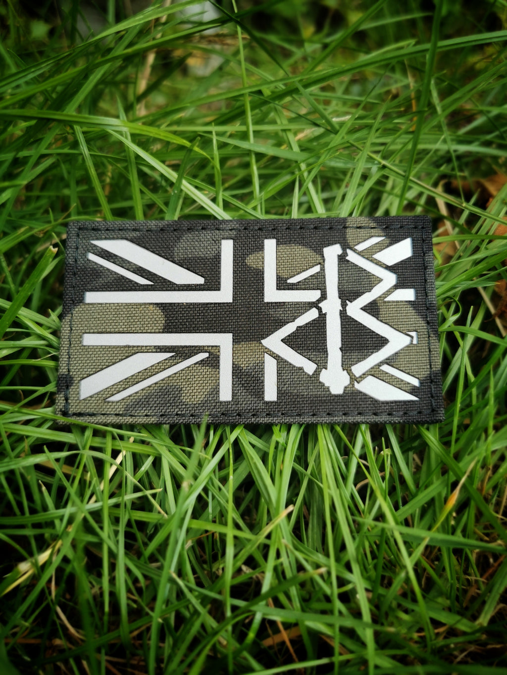 BLACK OMƎN UNION JACK PATCH / MULTICAM BLACK / GREY - BLACK-OMƎN