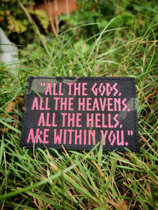 ALL THE GOD'S PATCH / MULTICAM BLACK / PINK